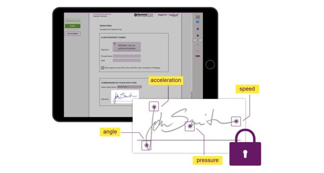 Feature, easy to sign, signing security